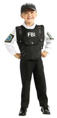 FBI Agent Kids Costume Police Costumes  sc 1 st  Pinterest & FBI Agent Kids Costume Police Costumes | Costume Party - Kids ...