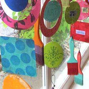 This is such a clever idea and easy enough with crayons and paper, paints and papers -- cut out and string together! Fun accent to hang from the child's ceiling too!
