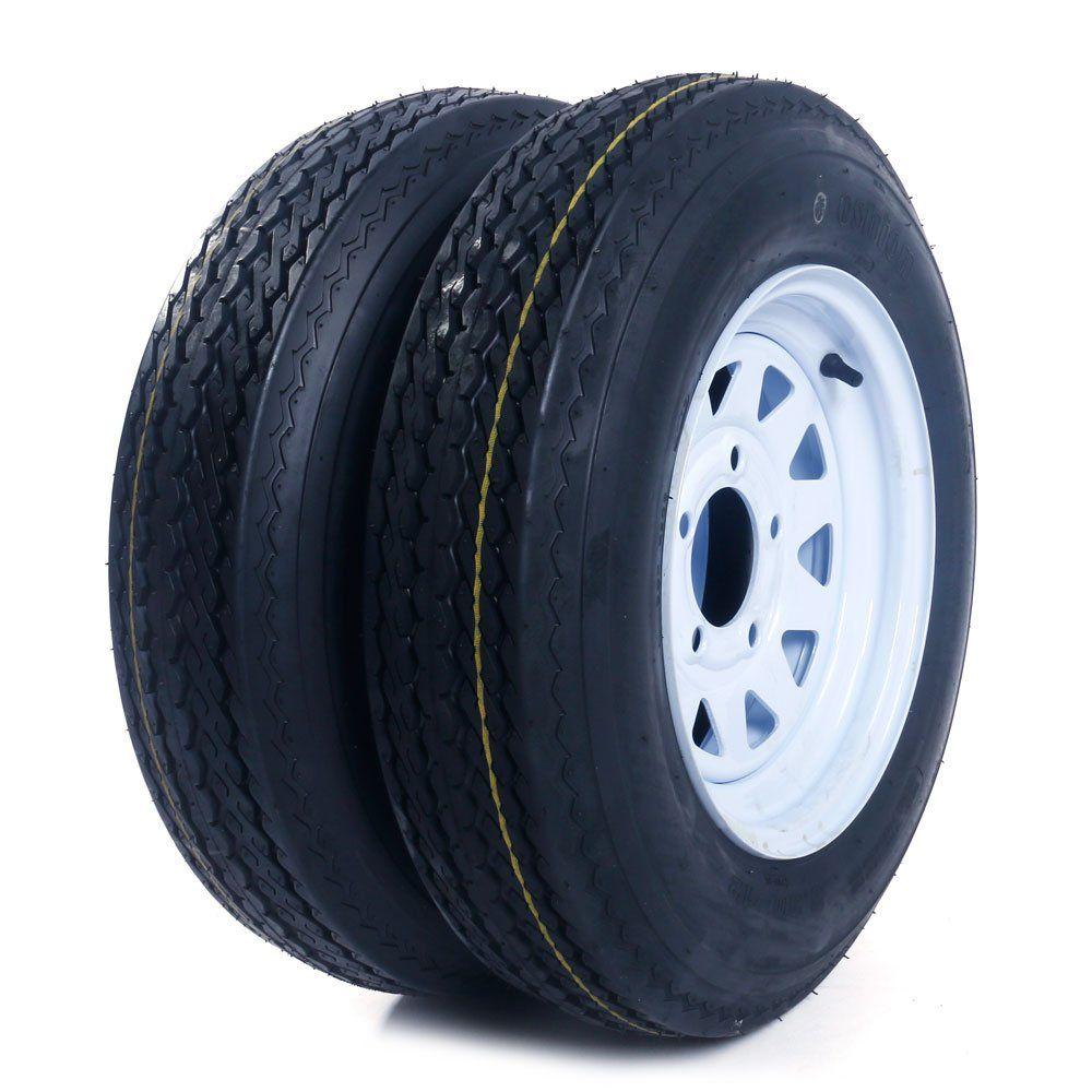 MILLION PARTS 2 Bias Trailer Tires and Rims 5.3012 LRC on