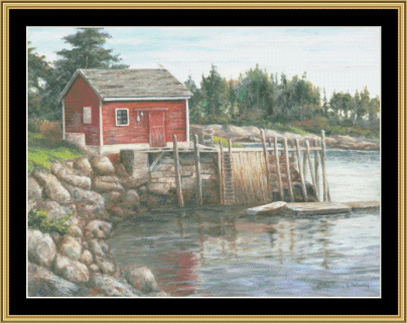 House Boat [BF2-81] - $16.00 : Mystic Stitch Inc, The fine art of counted cross stitch patterns