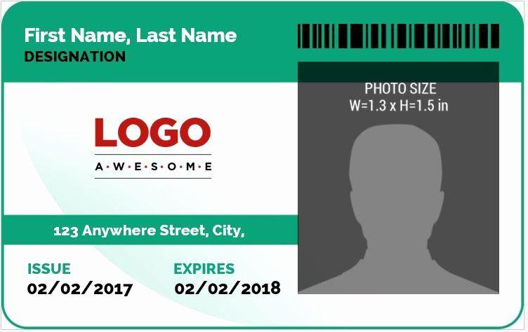 Id Card Template Word Beautiful Ms Word Id Badge Sample Template In 2020 Id Card Template Employee Id Card Words