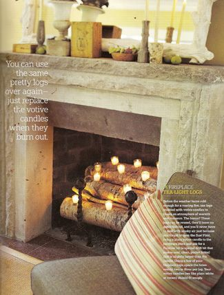 Fireplace candle logs for Living Room
