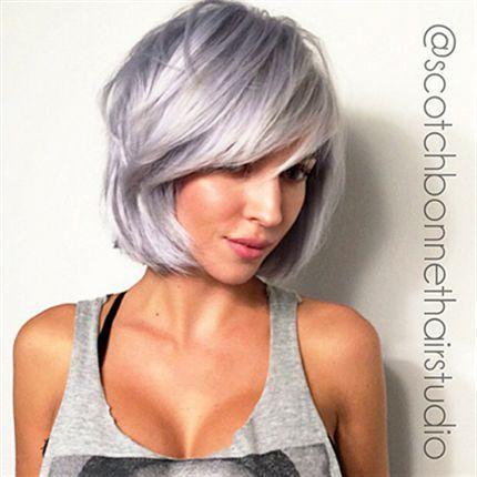 Silver Shades For Short Haircuts The Haircut Web Hair Styles Silver Hair Short Lilac Hair