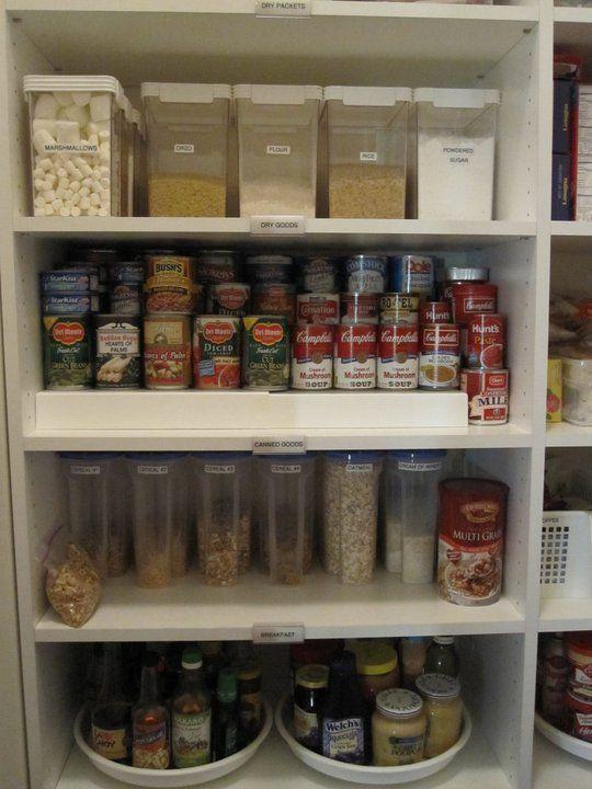 Pin By Alejandra Costello Home Orga On Pantry Organization Ideas Kitchen Organization Pantry Kitchen Shelves Organization Small Pantry Organization