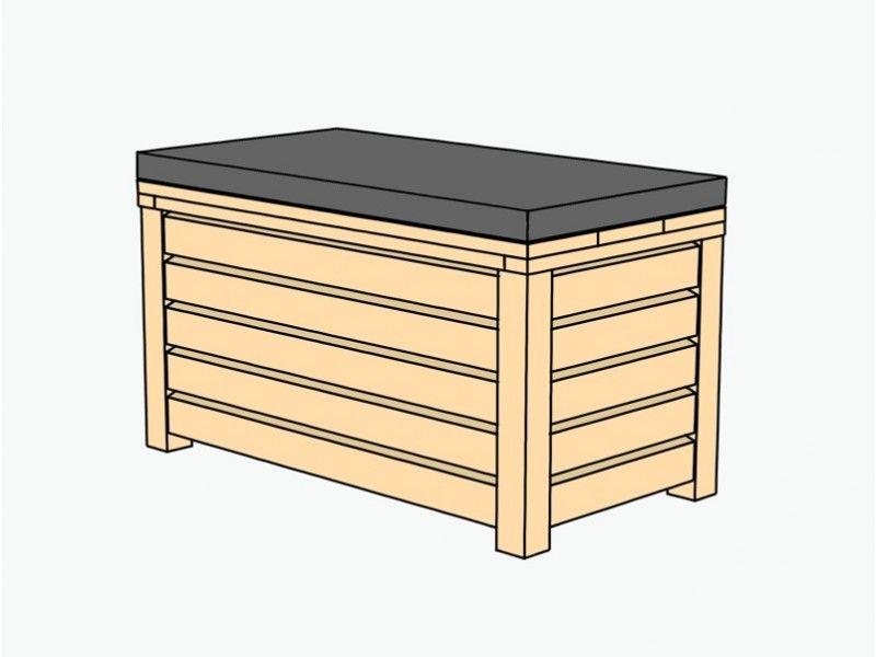 truhenbank sitztruhe holz 80 mit sitz polster. Black Bedroom Furniture Sets. Home Design Ideas