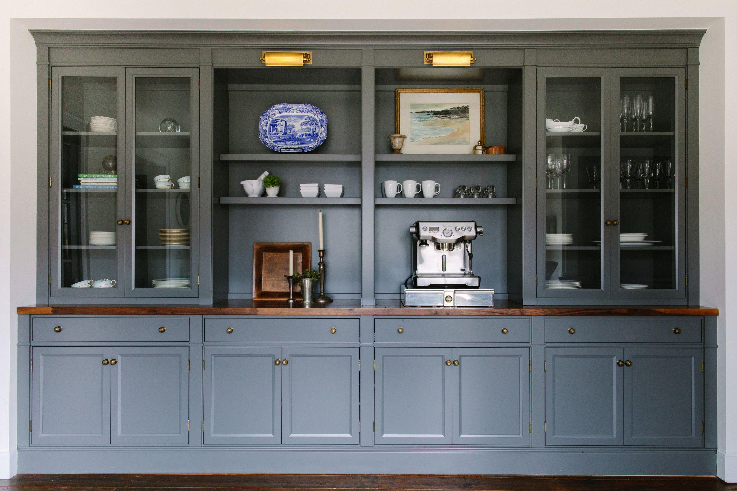Design Via Jean Stoffer Dark Grey Dining Room Walls