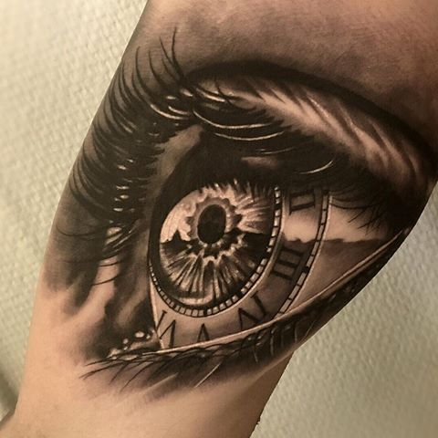 Amazing artist Martin Wikstroem @martin_wikstroem awesome clock eye tattoo! @art_spotlight @sullenclothing @bnginksociety @wowtattoo @voguemagazine @mindblowingtattoos @crazyytattoos @sephora #martinwikstroem #eyes #artsy #arm #vogue #photorealism #realism #eyetattoo  #hm #westcoast #awesome #portraits #3d  #la #europe #cali #style #blackandgrey #eye #clock #nikinorberg #artwork #beautiful #sweden #sullenclothing  #roman  #portrait #realism #iris #tattoo  #ink