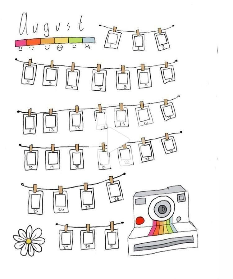 Polaroid Mood Tracker - I inspired my friend to start and this is her
