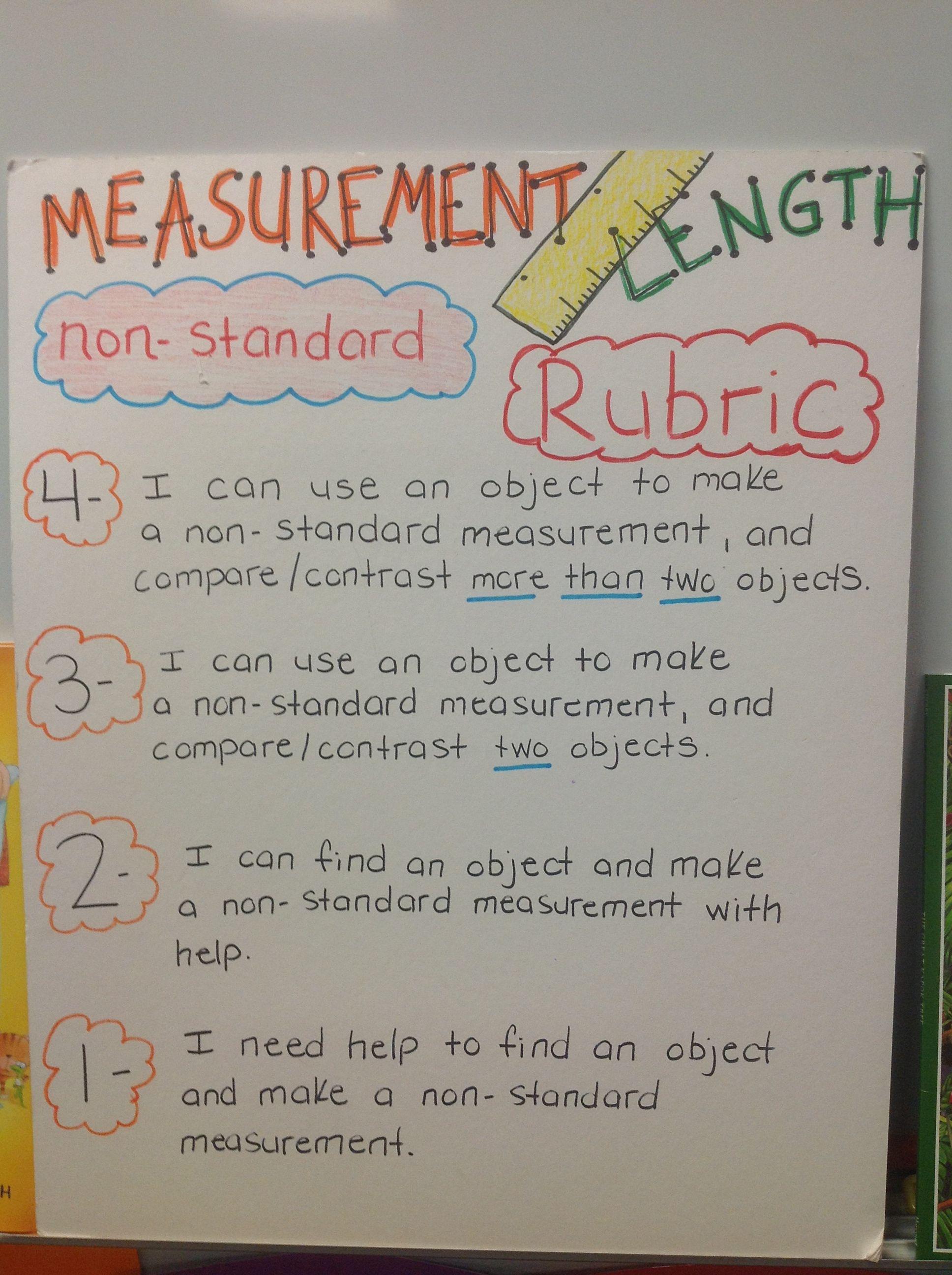 Measurement Nonstandard Length 1st Grade