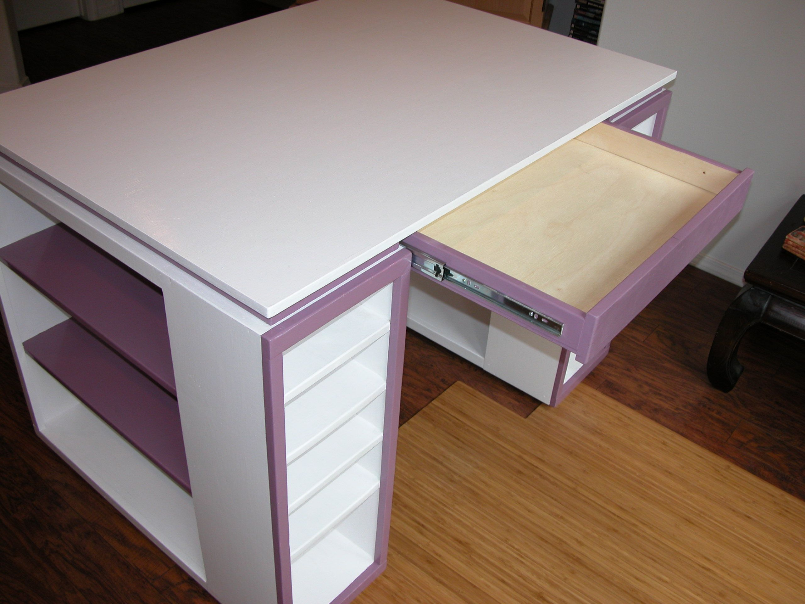 Modern Craft Table - Do It Yourself Home Projects From