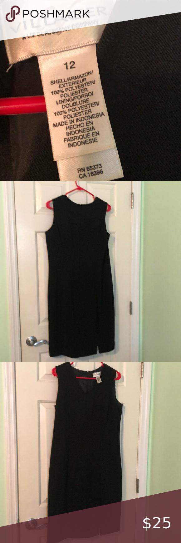 Simple Black A Line Dress Size 12 A Line Dress Black Sleeveless Dress Clothes Design [ 1740 x 580 Pixel ]