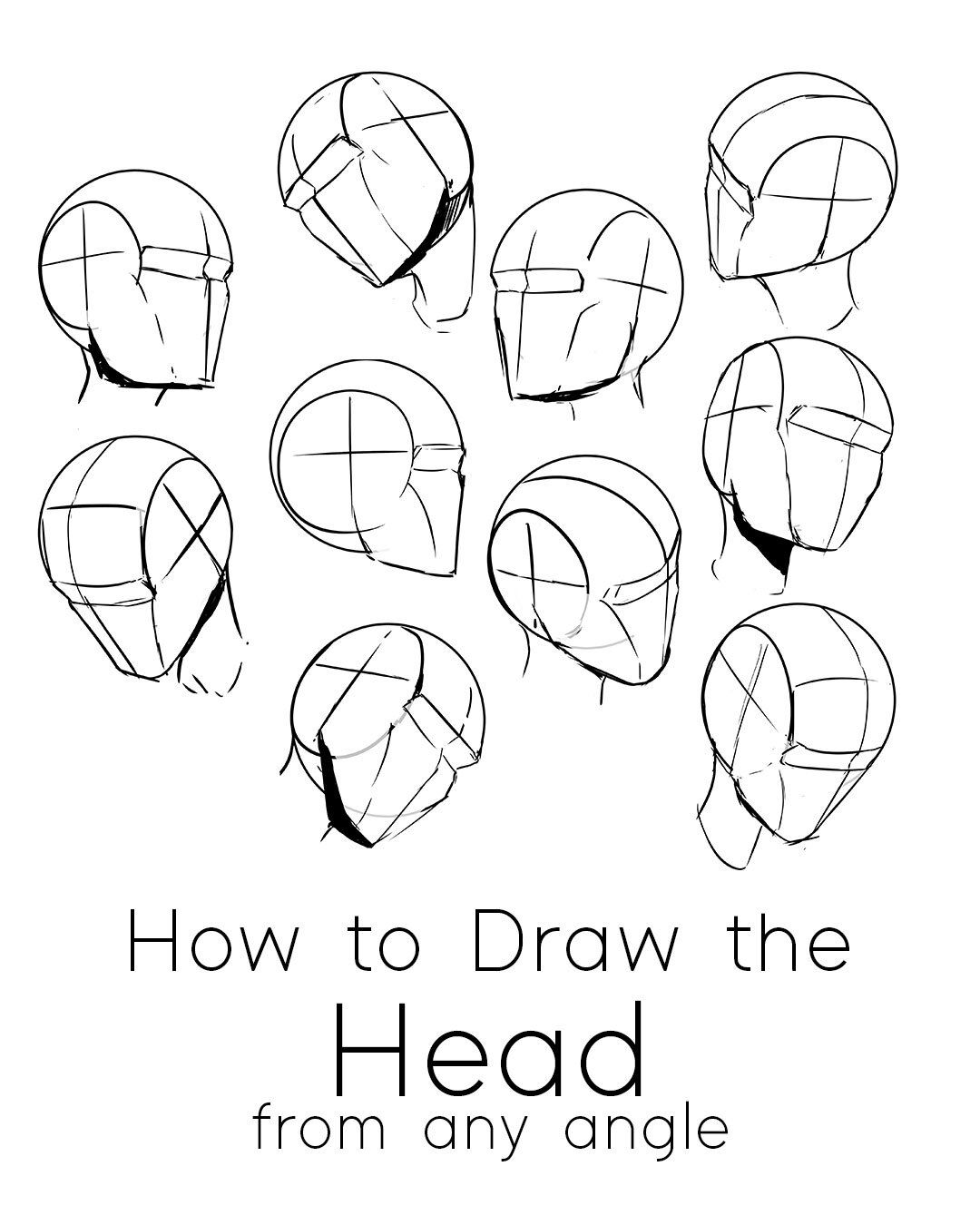 How To Draw The Head From Any Angle Free Pdf Worksheets Video Tutorial Jeyram Character Anime Drawings Sketches Anime Drawings Anime Drawings Tutorials
