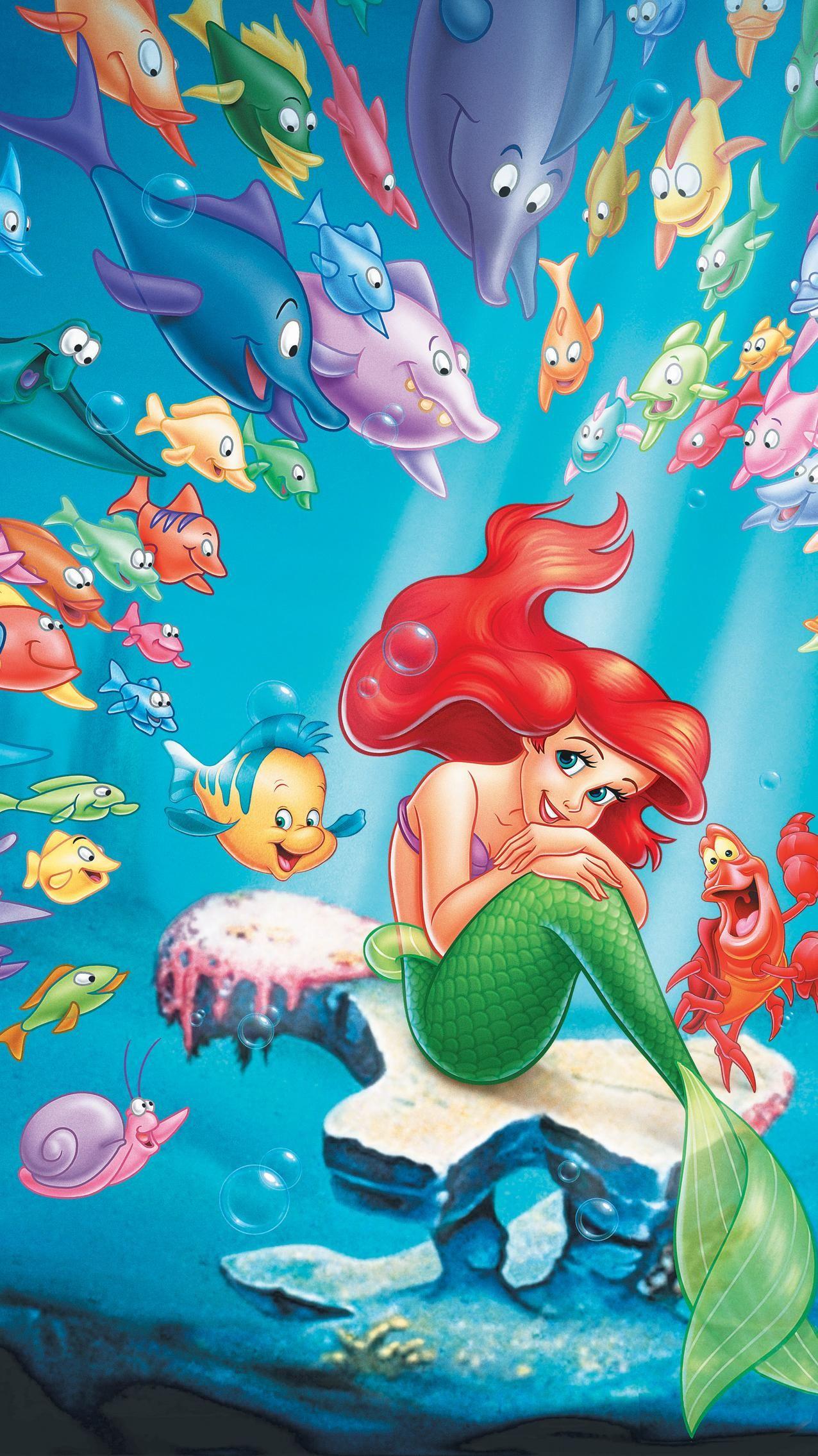 The Little Mermaid 1989 Phone Wallpaper Moviemania Arte De Princesa Disney Princesas Disney Imagenes De Sirenas