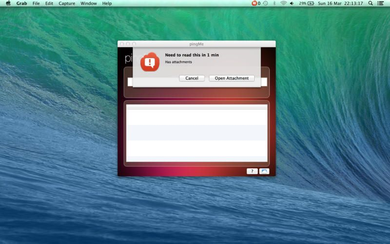 Mac App pingMe |  | **** | 4  | $ NOW FREE | pingMe is an easy to use remind me application, that uses natural language processing to create your reminders. Simply type i