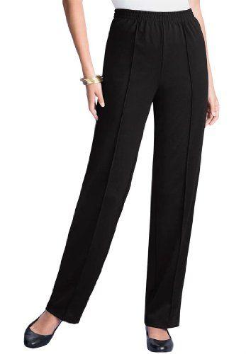 dc516f9e276 Roamans Women s Plus Size Creased Front Knit Pants