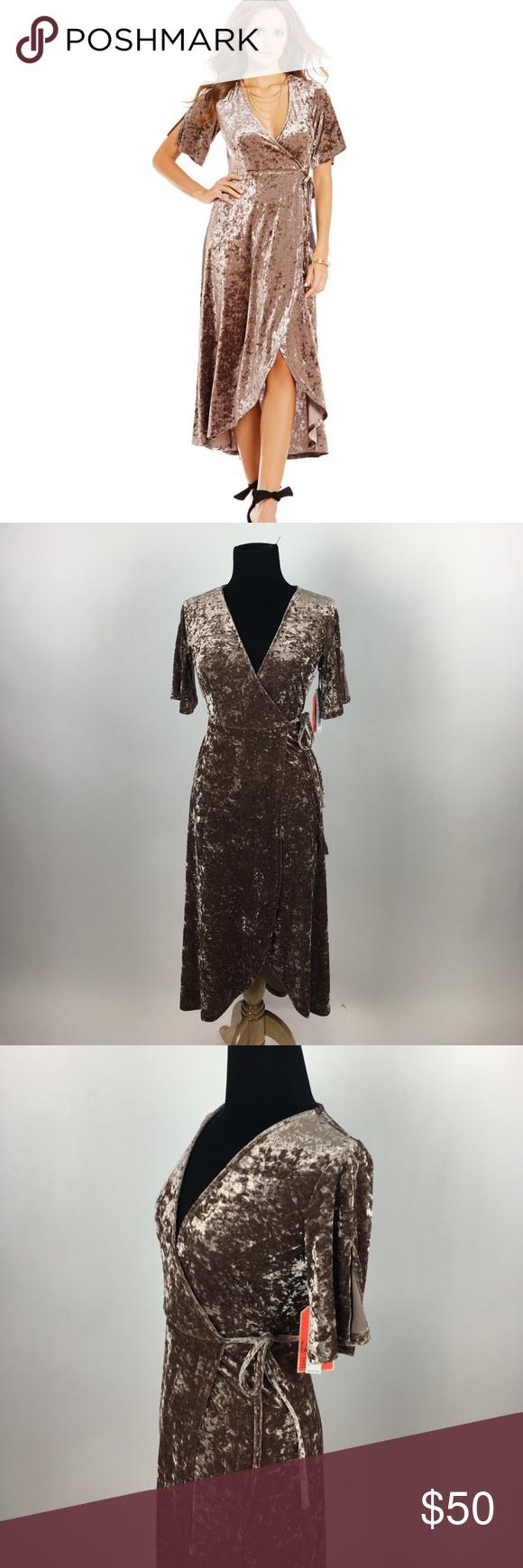 fbf615e41e Gianni Bini Marche Dress Velvet Wrap Dress From Gianni Bini
