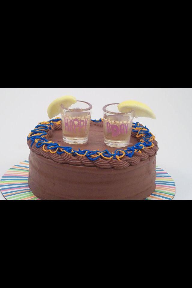 Chocolate cake shot 1 part hazelnut liqueur 1 part citron vodka