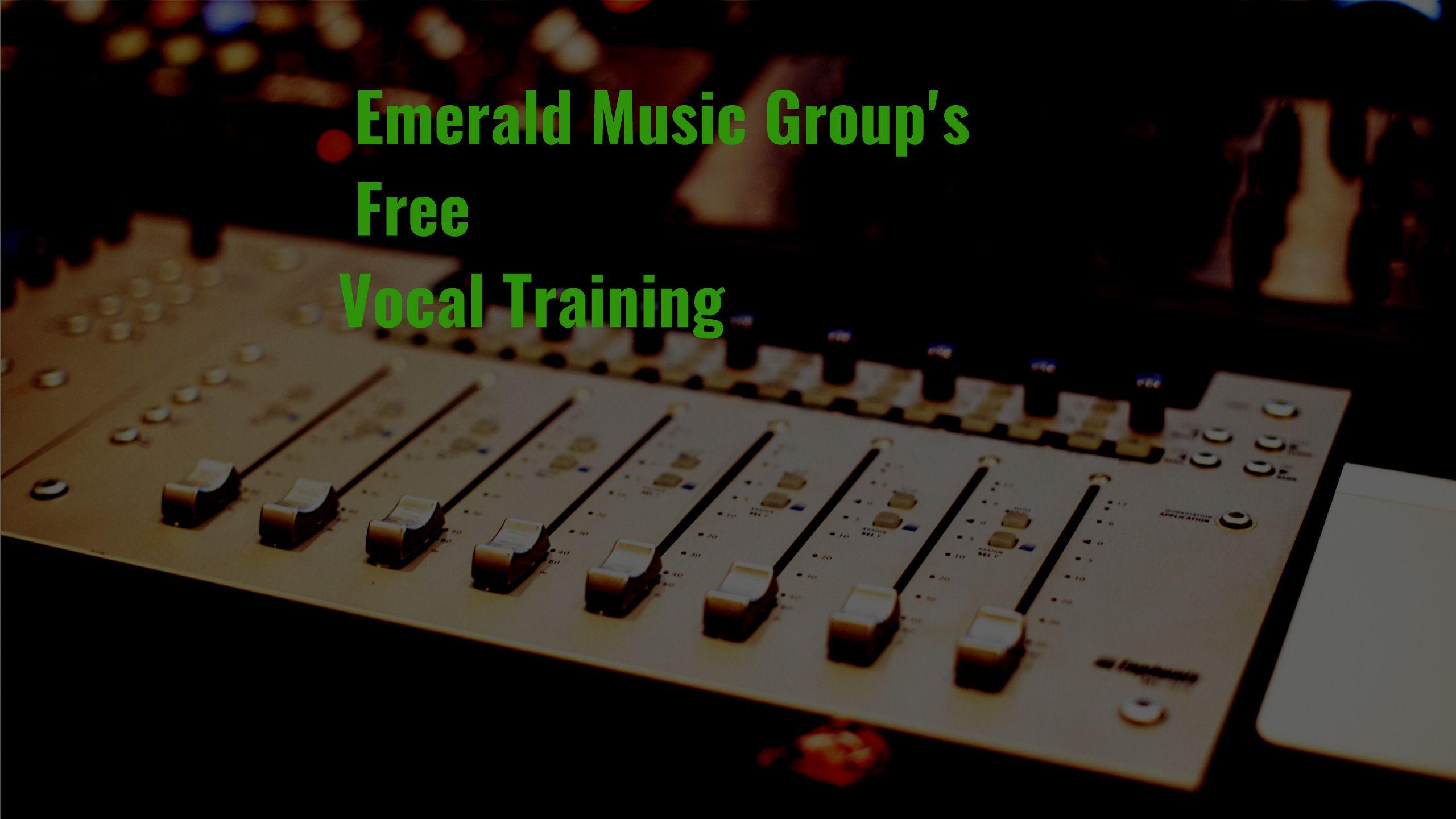 Free Online Vocal Training????? Vocal training, Singing