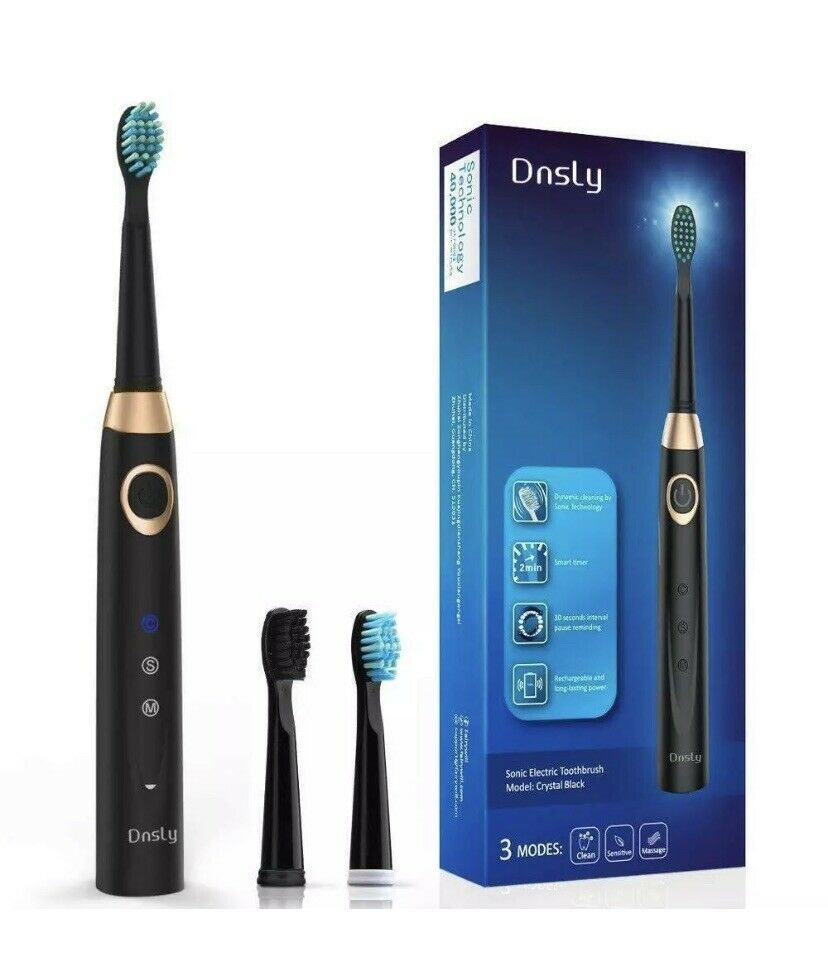 Dnsly Sonic Rechargeable Electric Toothbrush Adults 3 Modes Usb Fast Charging Ebay Brushing Teeth Rechargeable Electric Toothbrush Dentist Recommended