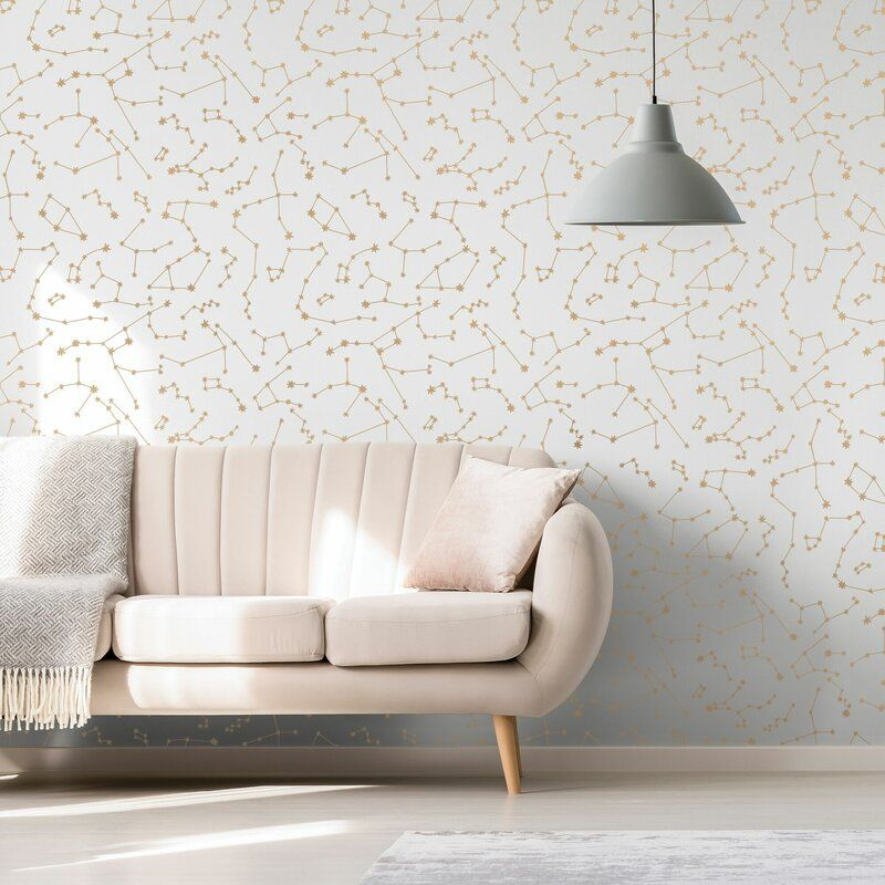 Ebern Designs Constellations 16 5 L X 20 5 W Smooth Peel And Stick Wallpaper Roll Reviews Allmodern In 2021 Decor Removable Wallpaper Self Adhesive Wallpaper