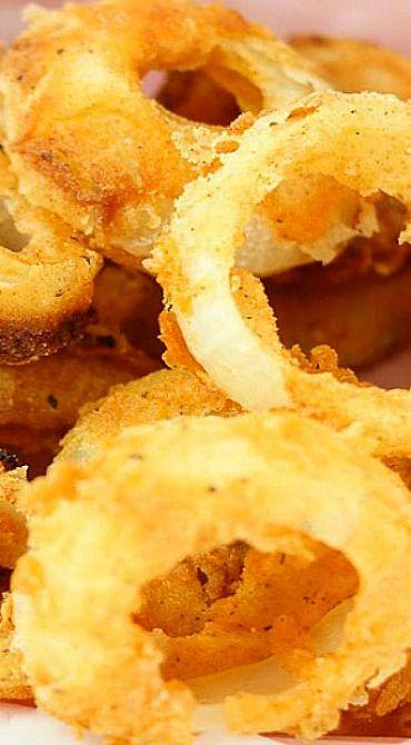 Easy Buttermilk Onion Rings Onion Rings Onion Onion Recipes