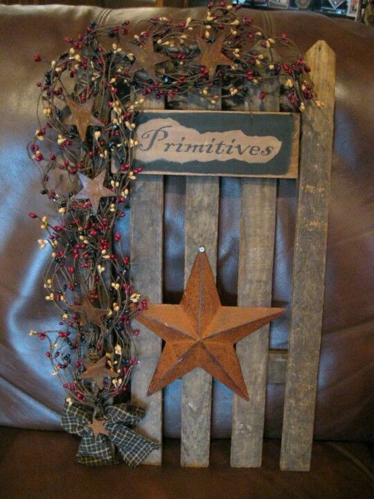 Primitive fence primitive home pinterest for Country craft house