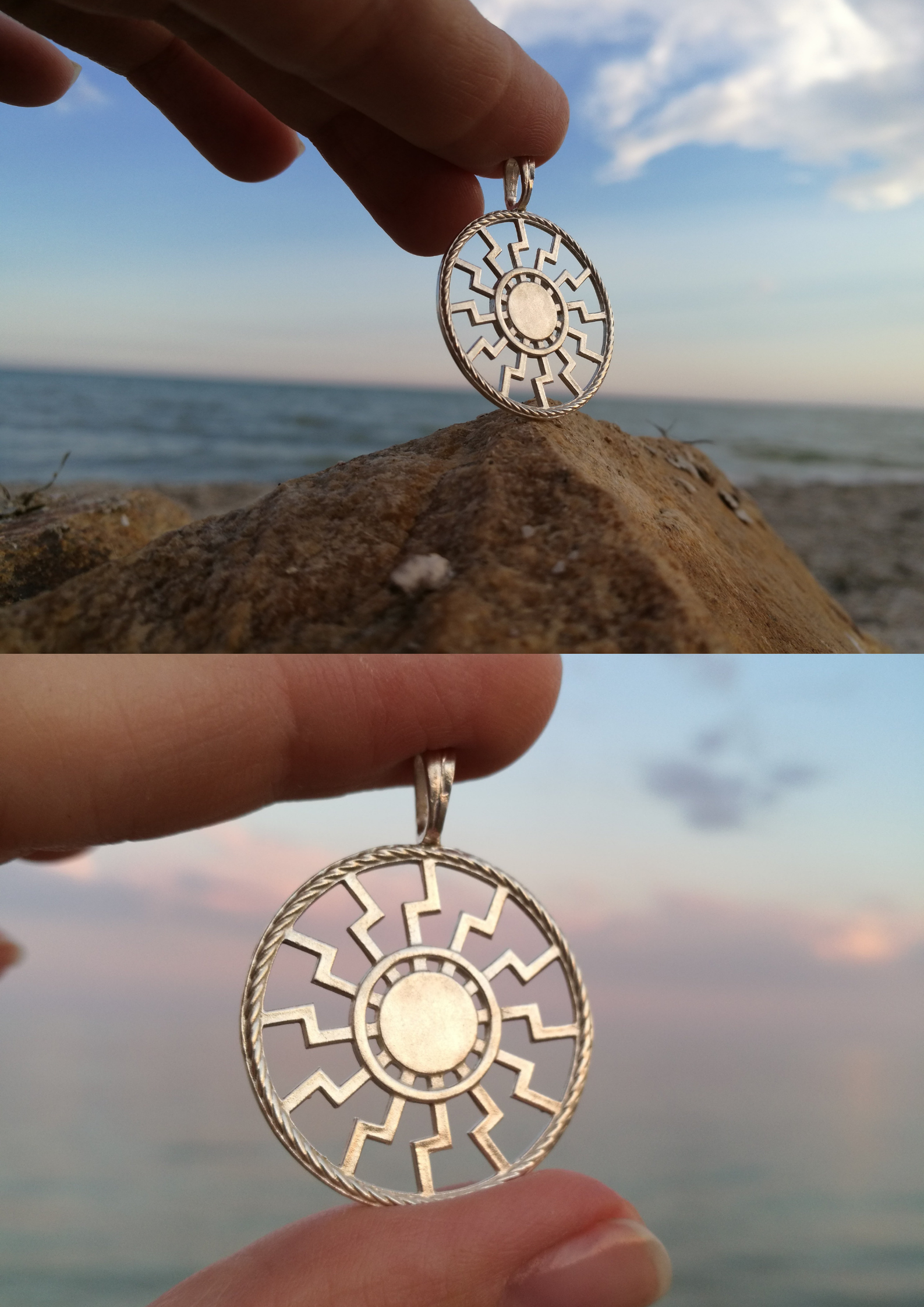 Norse Nordic Sun Wheel Necklace Pagan Scandinavian Men Pendant Slavic Steampunk