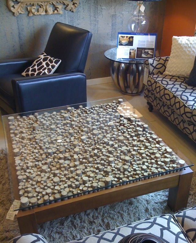 Wine Cork Table Design: Coffee Table Upcycle, Wine Cork Table