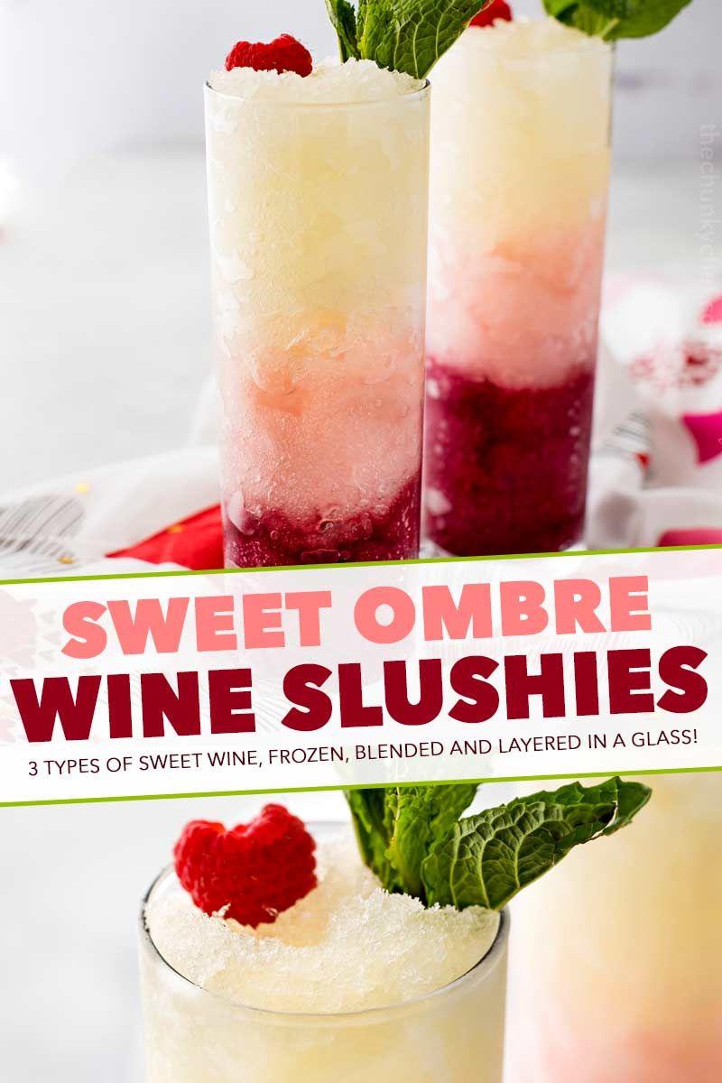 Ombre Sweet Wine Slush Recipe In 2020 Wine Slushie Kids Milkshake Recipes Sweet Wine