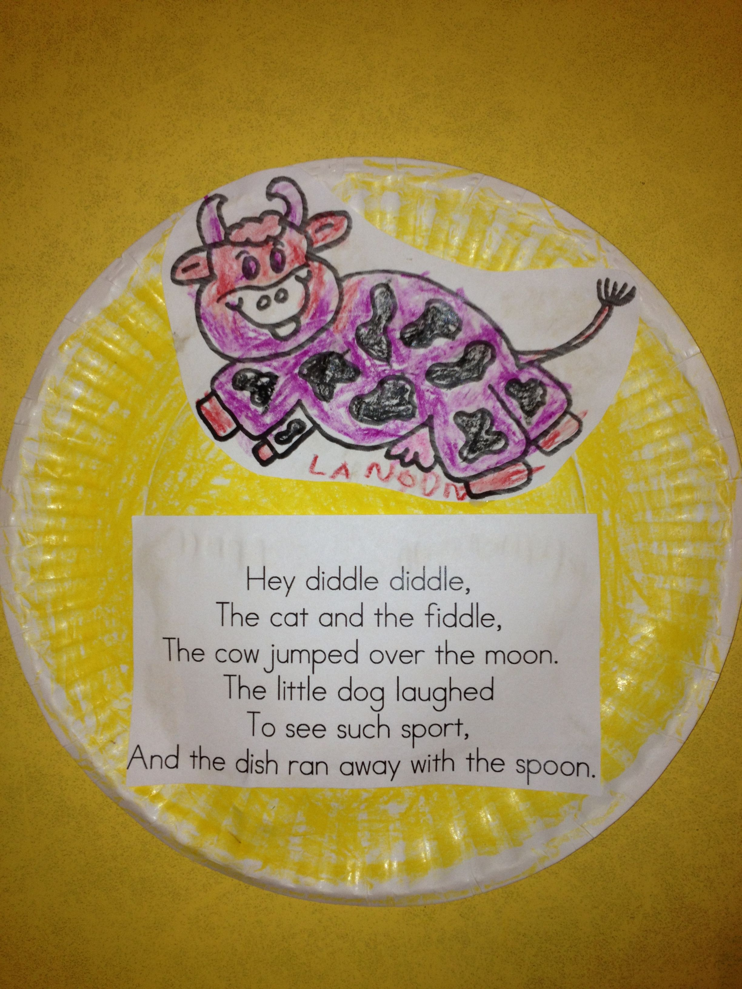 hey diddle diddle craft preschool files pinterest hey diddle