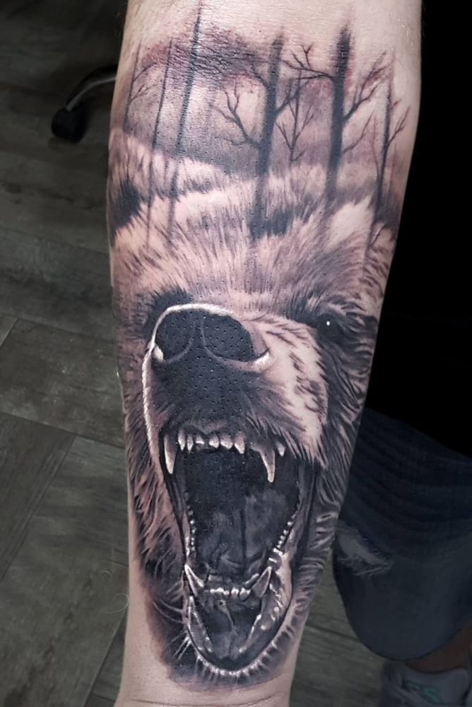 #tattoo bear | Tatuajes | Tattoos, Grizzly bear tattoos y ...