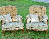 "On SALE - Fall Sale - Custom Upholstered ""French Club Chairs"" - IN STOCK - Price per Chair"