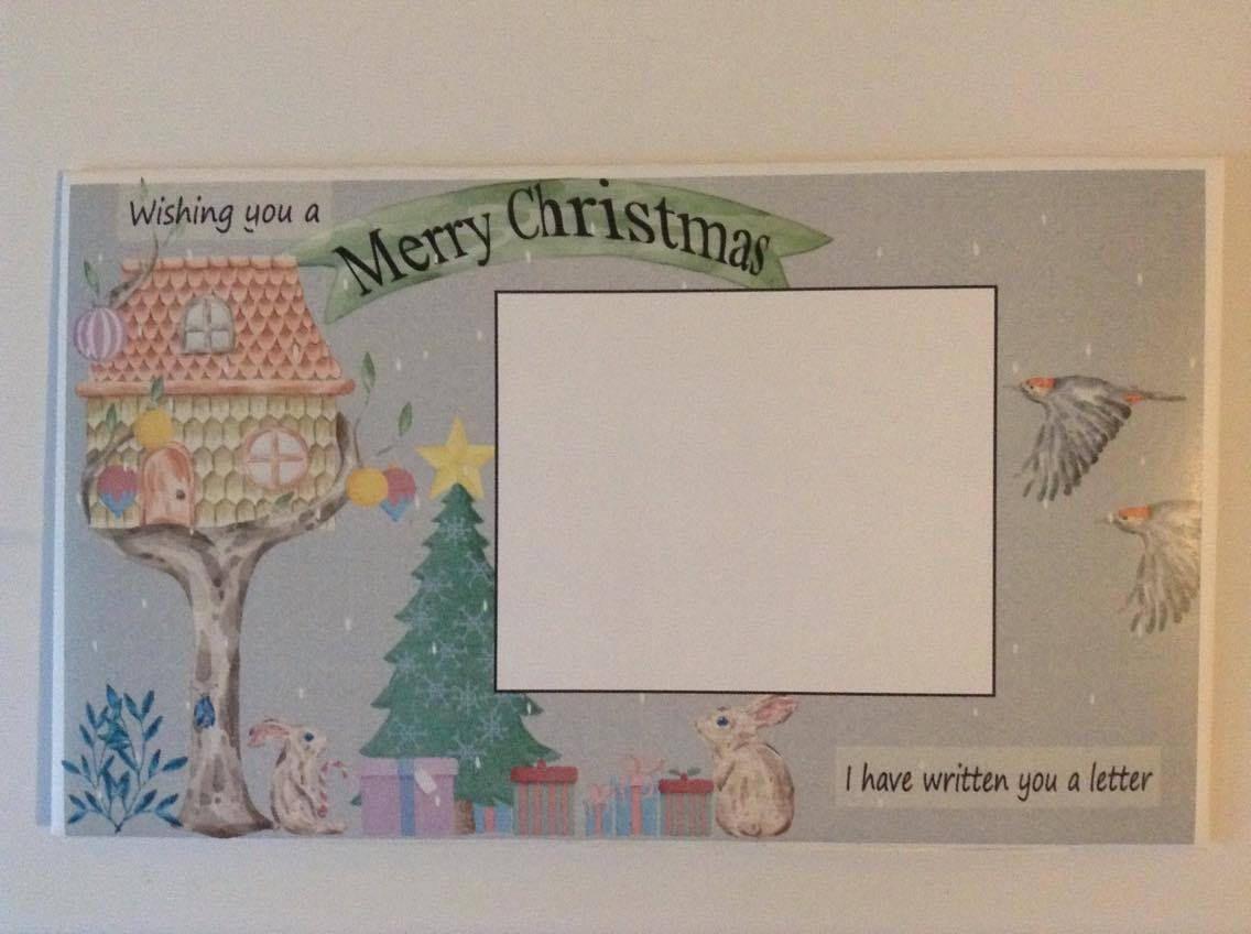 Christmas letter stationery set rabbit chrismas tree letter bound