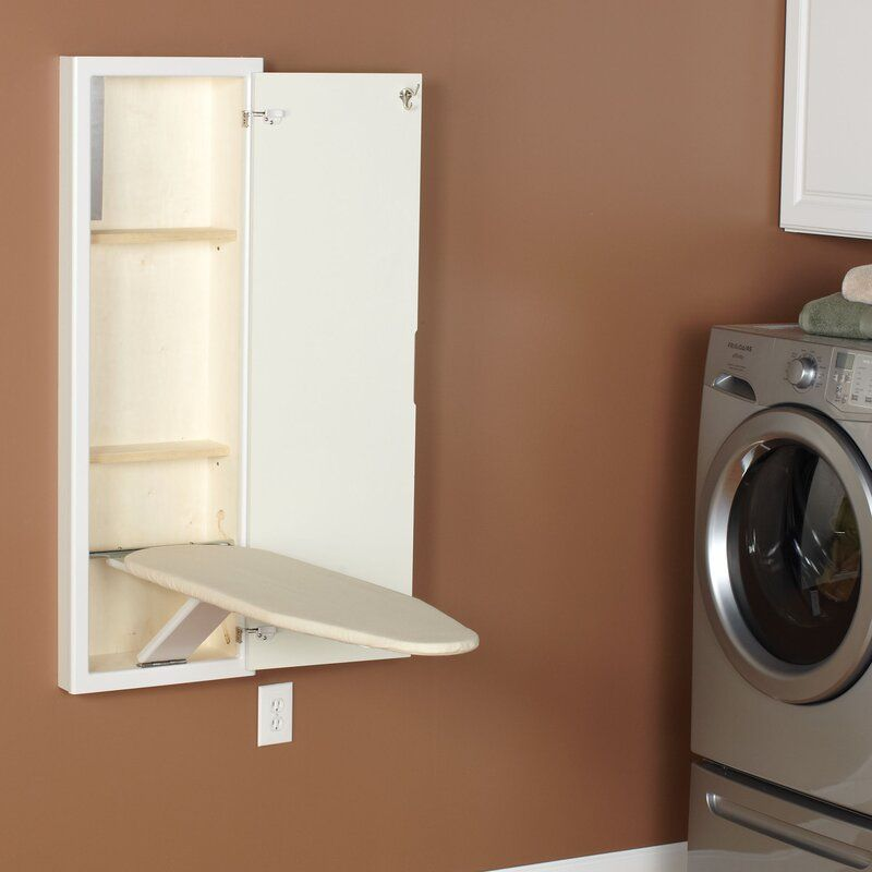 Stowaway In Wall Built In Ironing Board In 2021 Wall Ironing Board Laundry Room Organization Small Laundry Room Organization