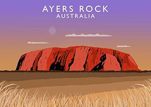 Ayers Rock, Australia Art Print (A3) Chequered Chicken https://www.amazon.co.uk/dp/B06X15SSJL/ref=cm_sw_r_pi_dp_x_apkNybJNH9XC3