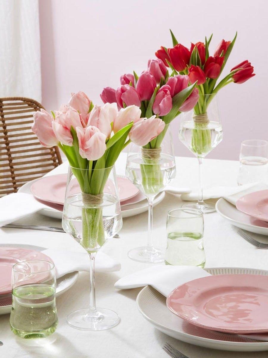 5 einfache deko ideen mit tulpen und ranunkeln deko tulpen blumen und deko - Einfache deko ideen ...