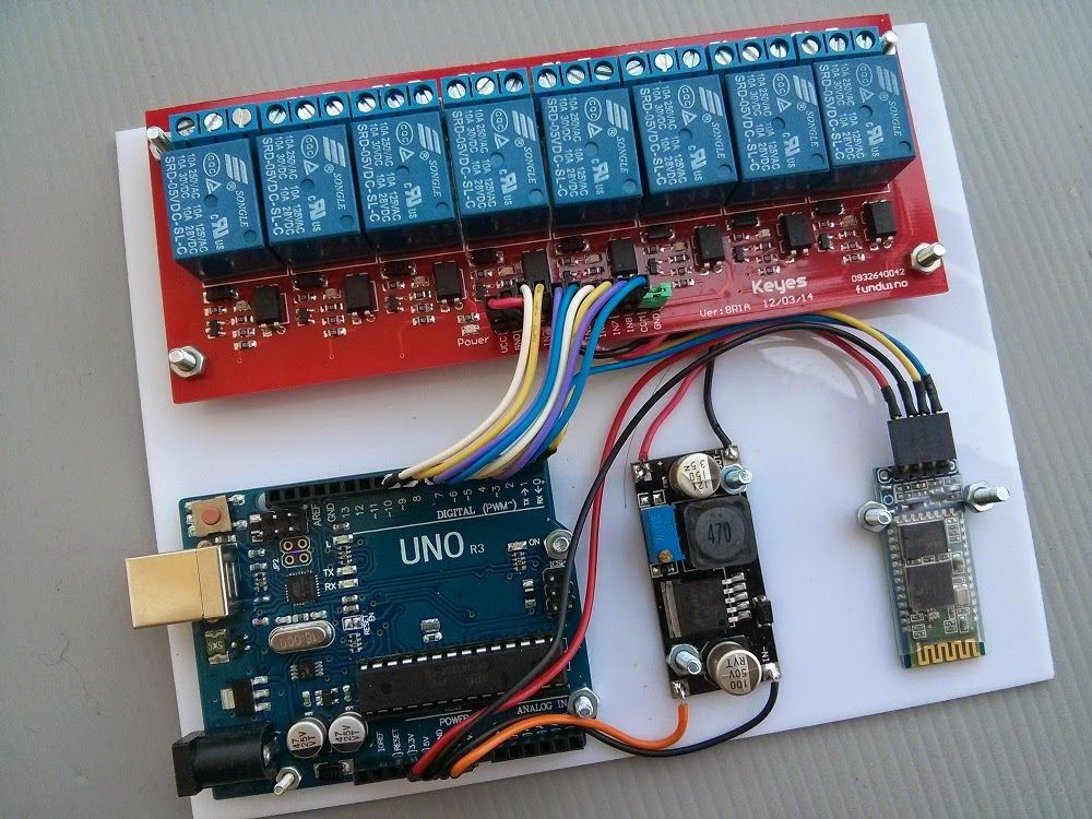 Arduino Bluetooth Control Smart Home with Firmata This