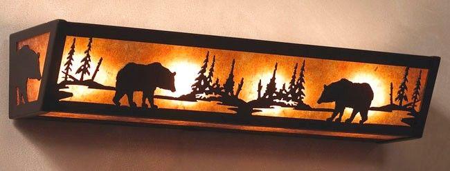 Black Bear Vanity Light | Cabin Decor | Pinterest | Rustic ...