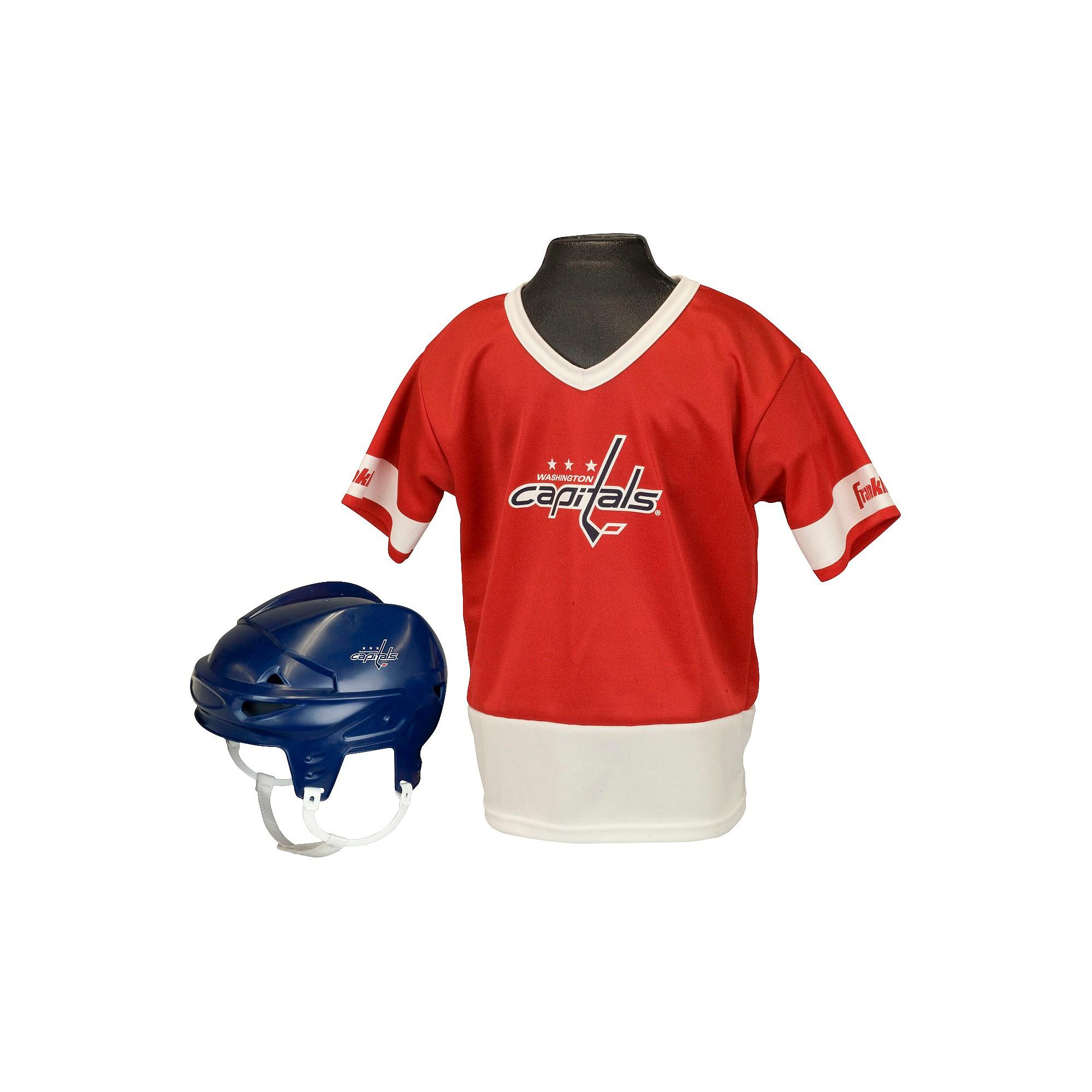 check out 43325 41f48 Washington Capitals Franklin Sports Licensed Hockey Uniform ...