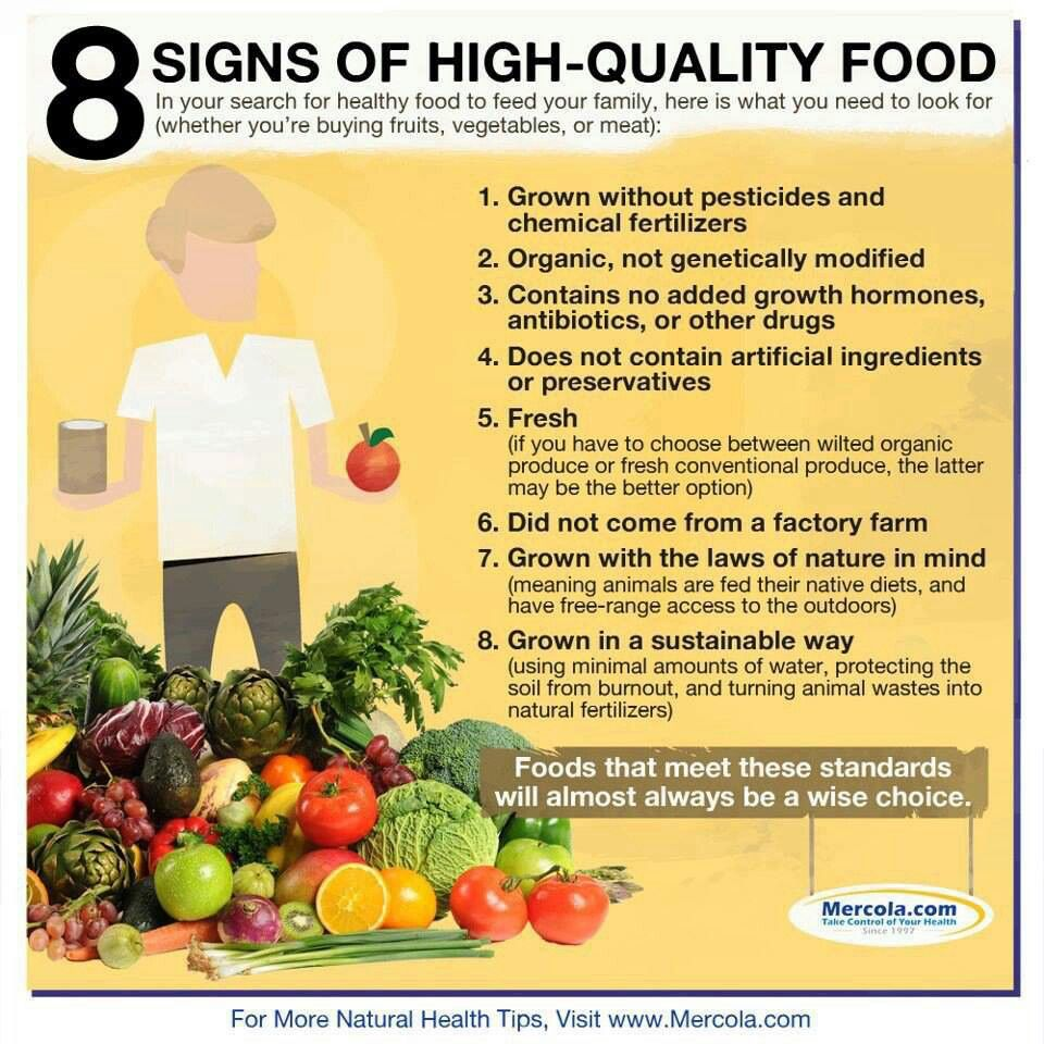 High quality food, good food