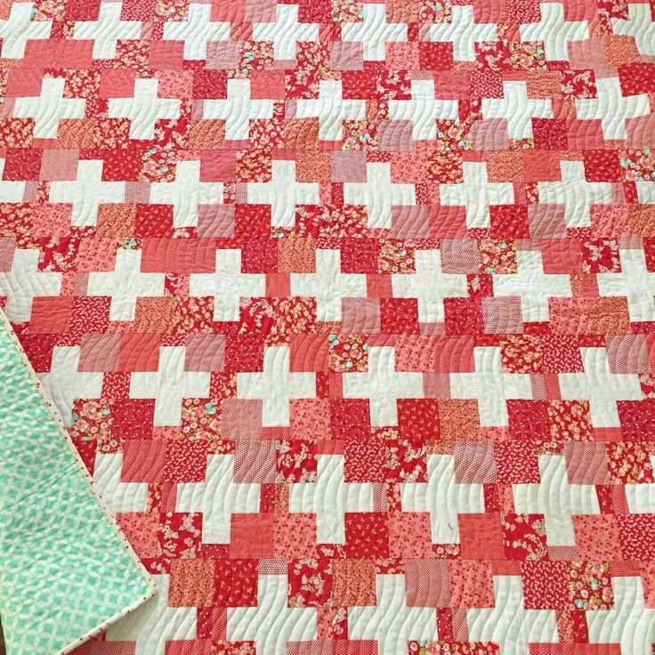Number three is called Swiss and it's my take on a simple plus ... : red gingham quilt - Adamdwight.com