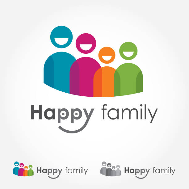 Logo Icon Representing Happy Smiling Family File Includes Horizontal Family Logo Logos Free Vector Art