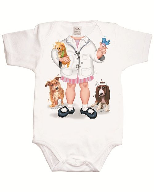 Just Add a Kid 'Doctor Girl' Bodysuit available online at http://www.babycity.co.uk/
