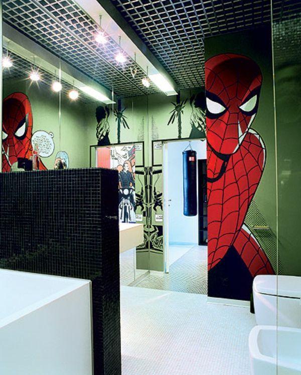 Super Hero Bathroom Themes Boys Bathroom Ideas Bathroom Designs - Avengers bathroom decor for small bathroom ideas