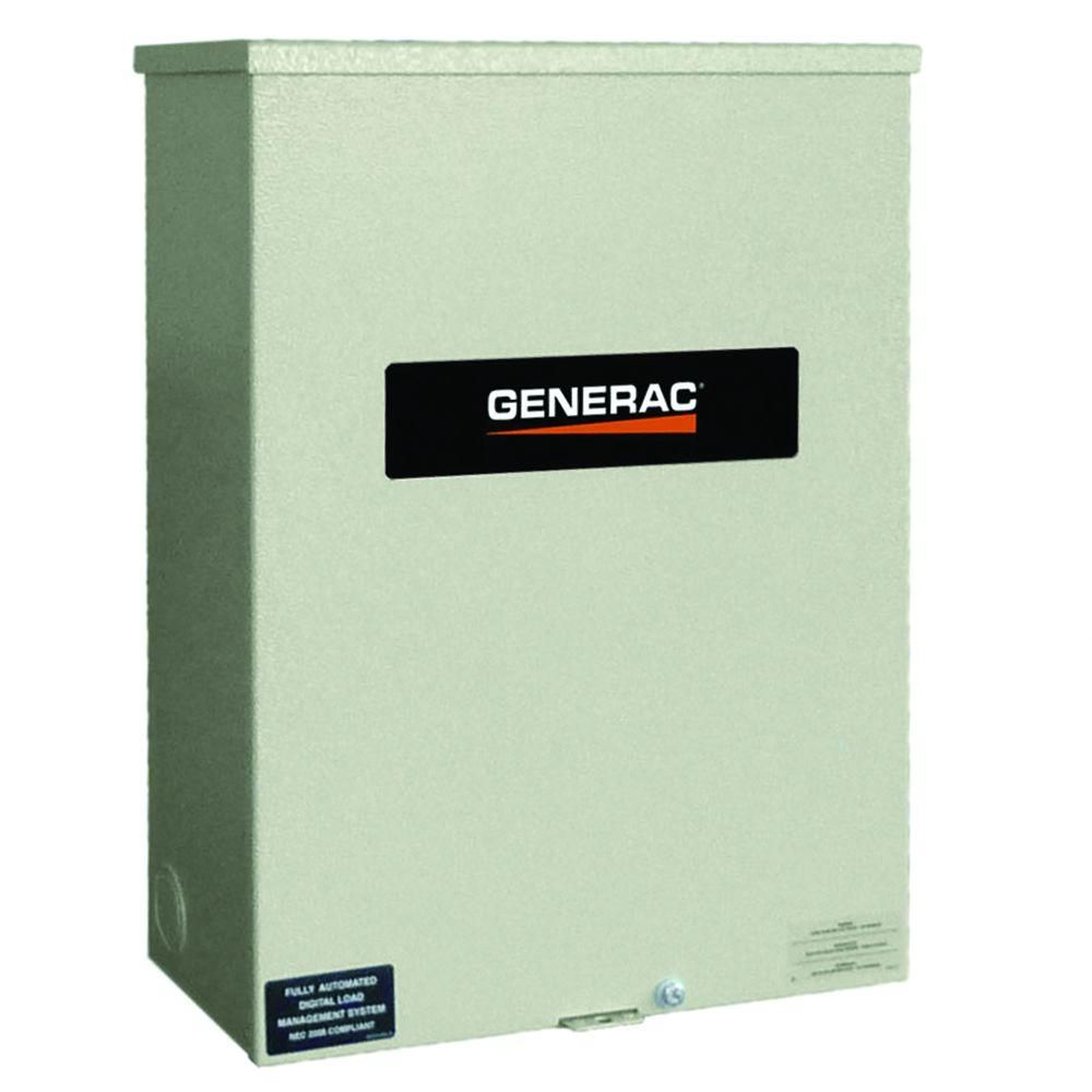 Generac 100 Amp Service Rated 120 240 Single Phase Nema 3r Smart Transfer Switch Rxsw100a3 Transfer Switch Generator Transfer Switch Generators For Sale