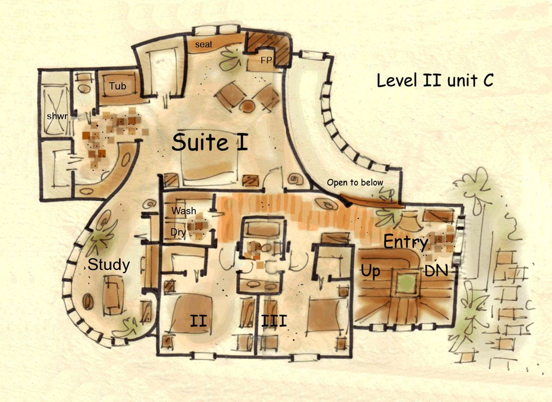 Hobbit House Floor Plans Fantasy House Plan Hansel