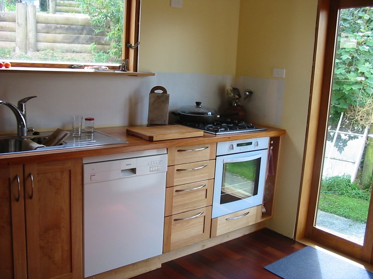 Lovely Custom Made Small Kitchen, Solid NZ Tawa