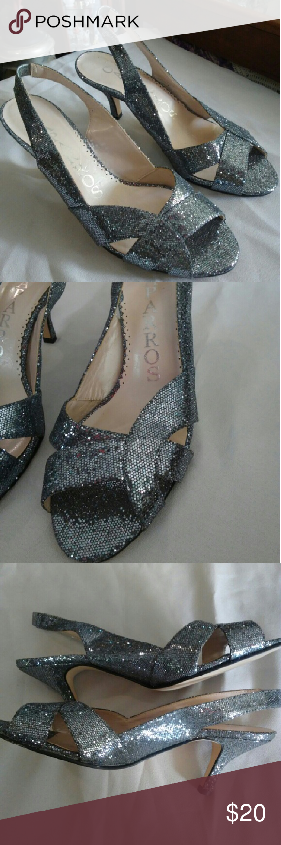 """Shoes Beautiful gritter shoes with a 3"""" heel. Shoes"""