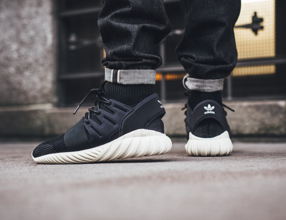 The Really Sleek adidas Tubular Doom Core Black • KicksOnFire.com