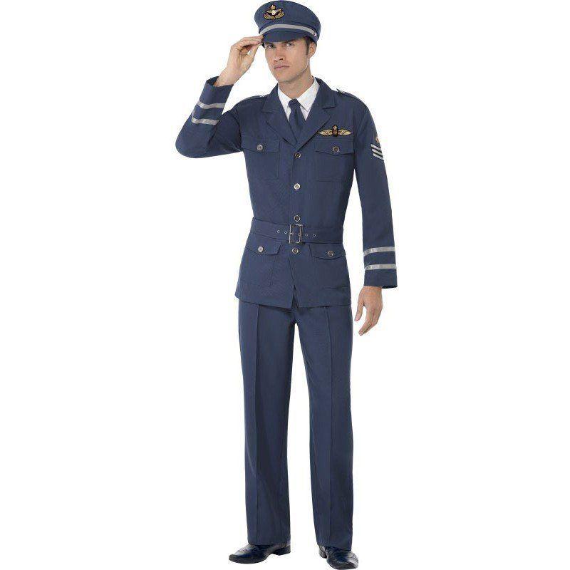 2. Weltkrieg Air Force Pilot Kostüm für 39,99€. Schlichtes